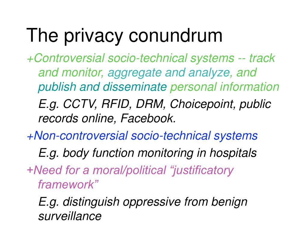 The privacy conundrum