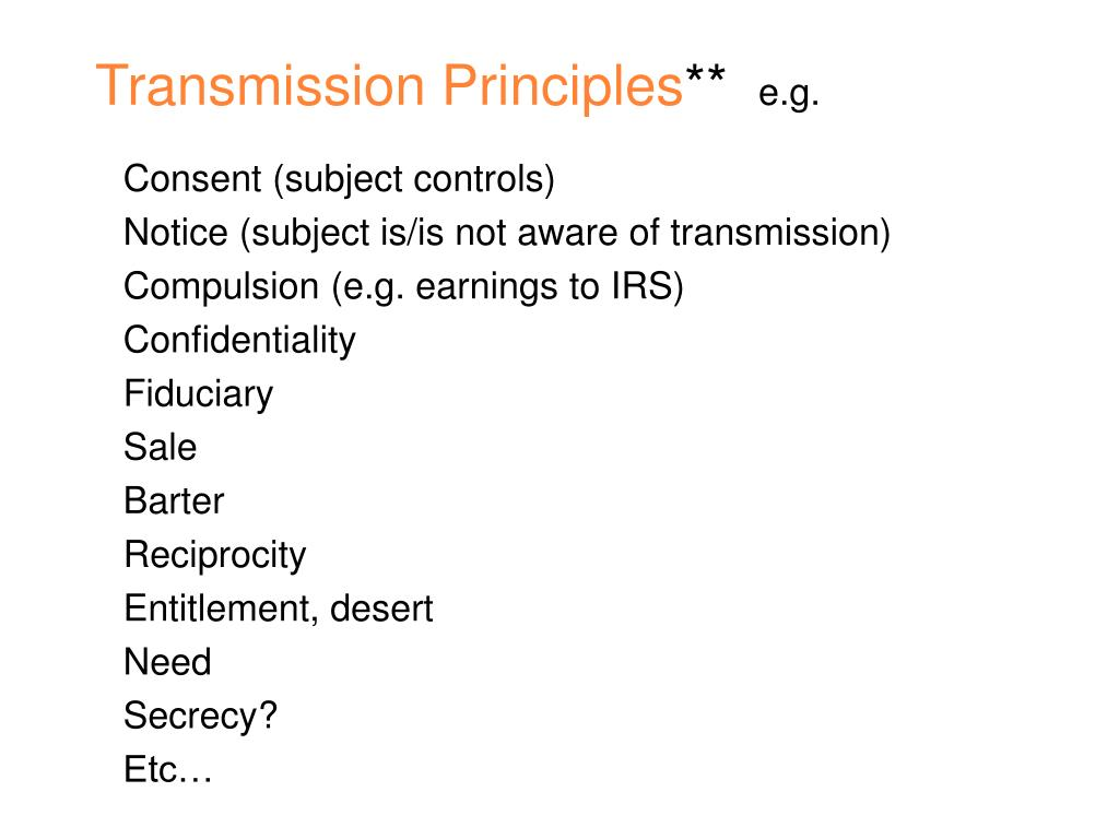 Transmission Principles