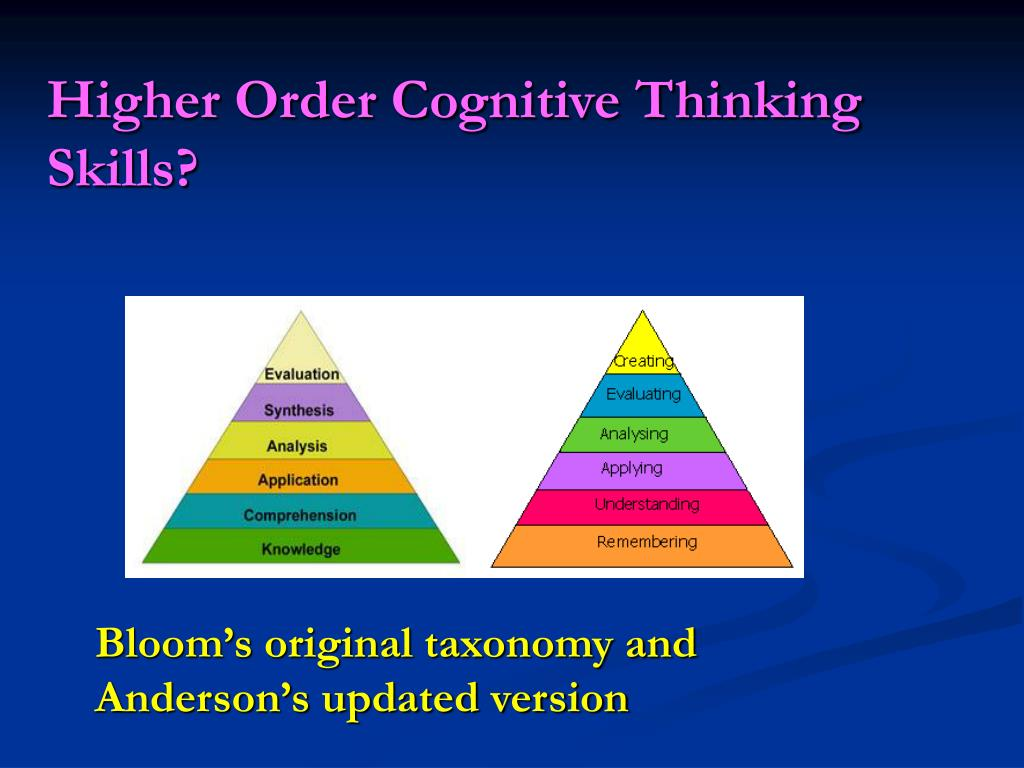 Higher Order Cognitive Thinking