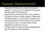 example stephanie postal