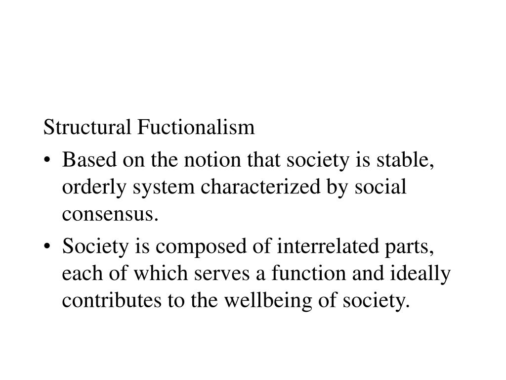 Structural Fuctionalism