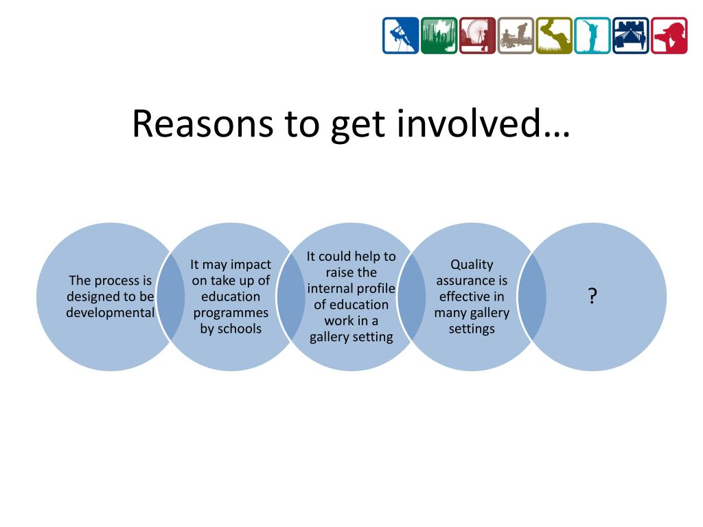 Reasons to get involved…