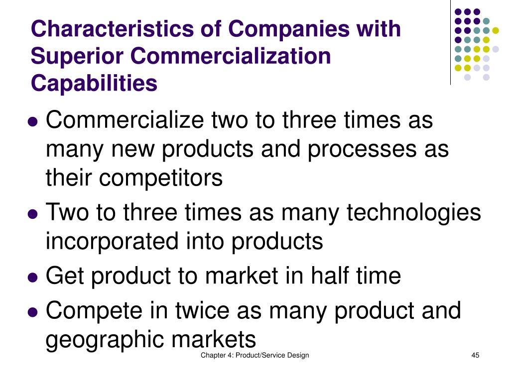 Characteristics of Companies with Superior Commercialization