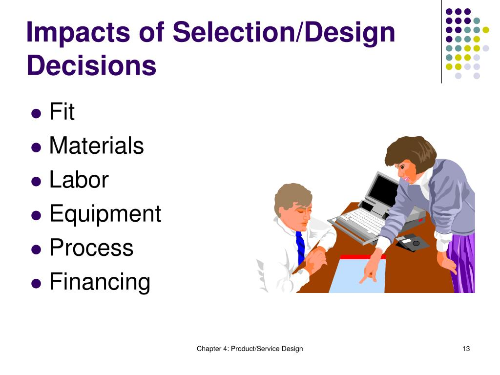 Impacts of Selection/Design Decisions
