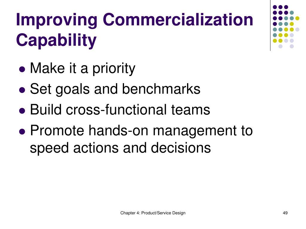 Improving Commercialization Capability