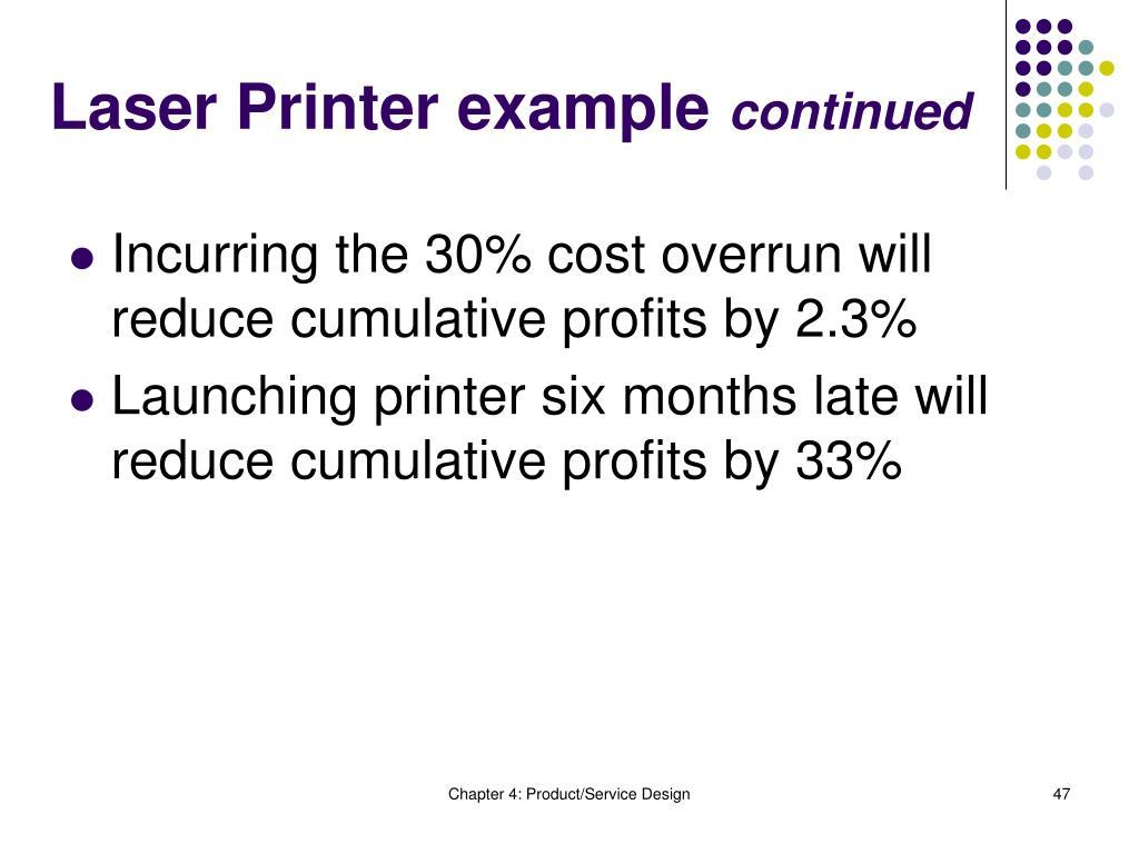 Laser Printer example