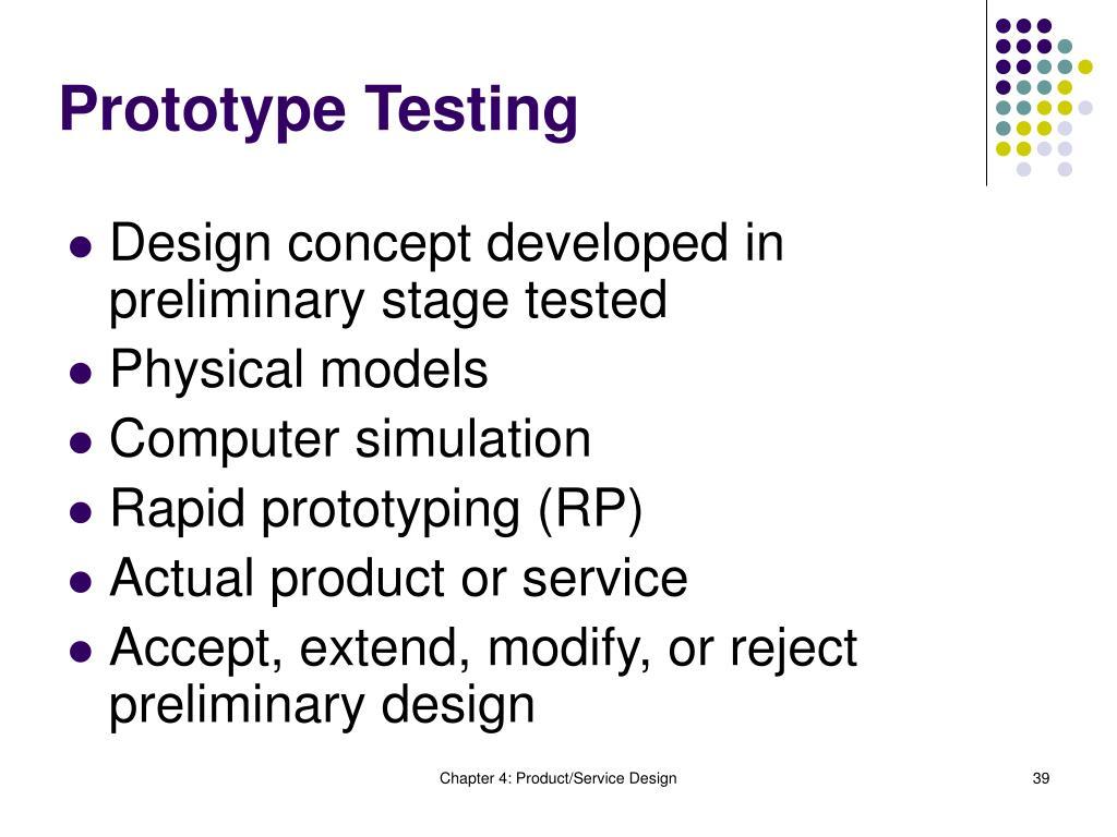 Prototype Testing