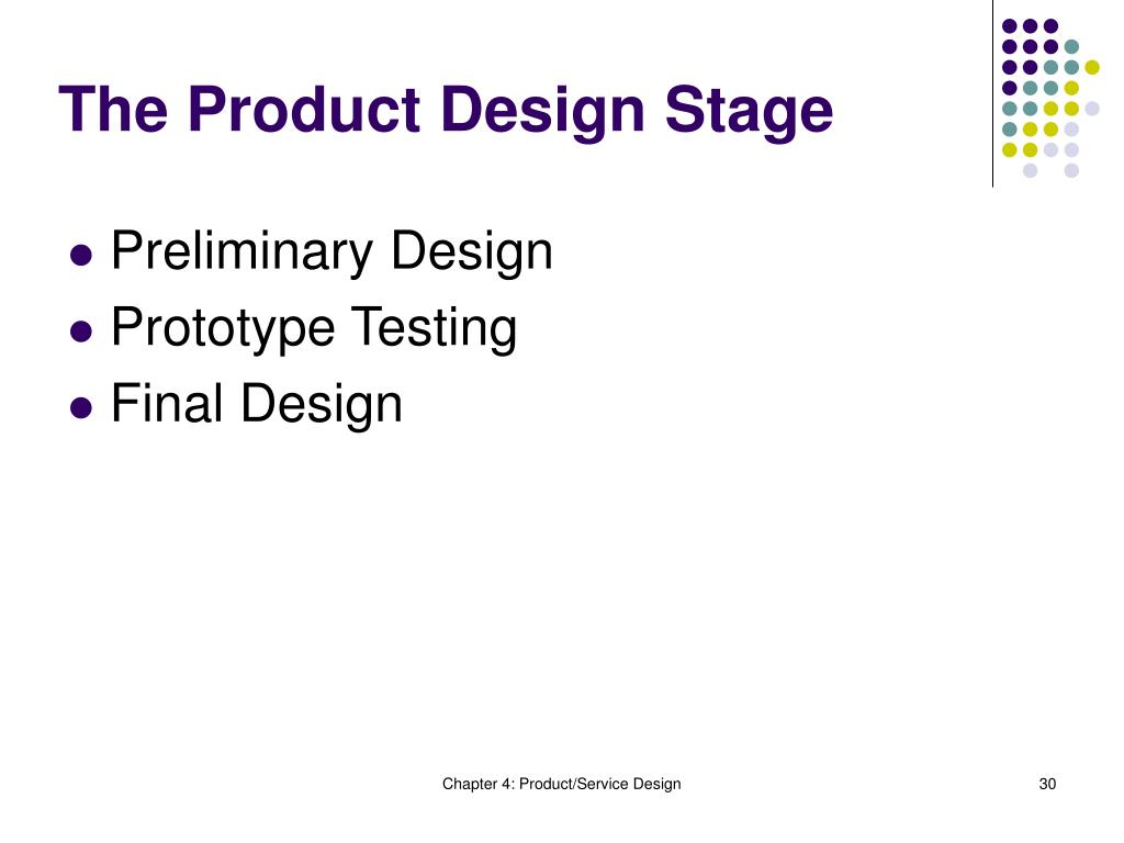 The Product Design Stage