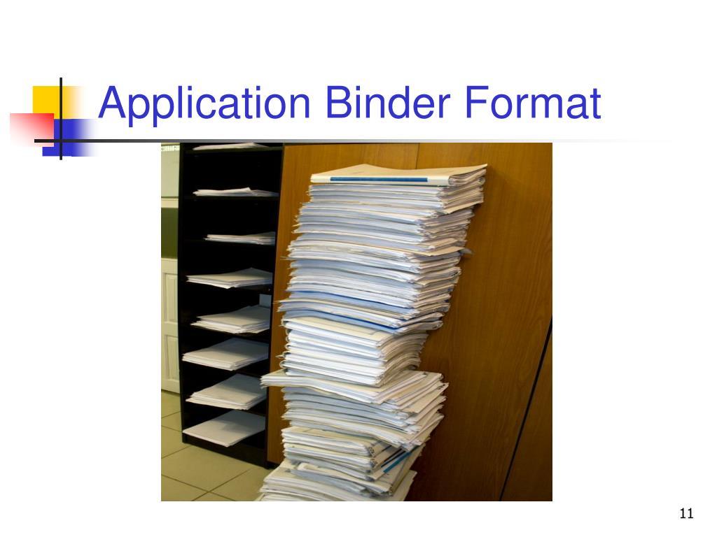 Application Binder Format