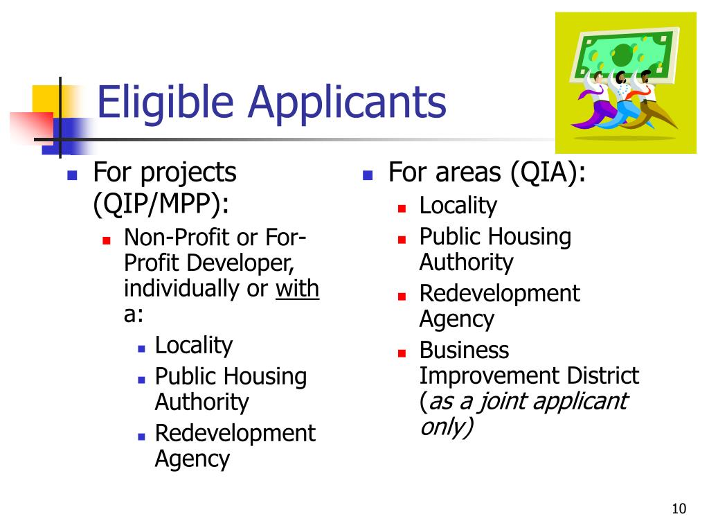 For projects (QIP/MPP):