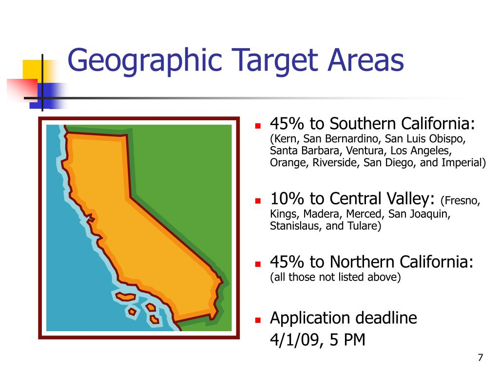 Geographic Target Areas
