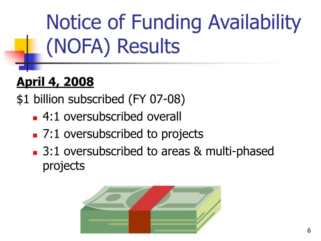 Notice of Funding Availability (NOFA) Results