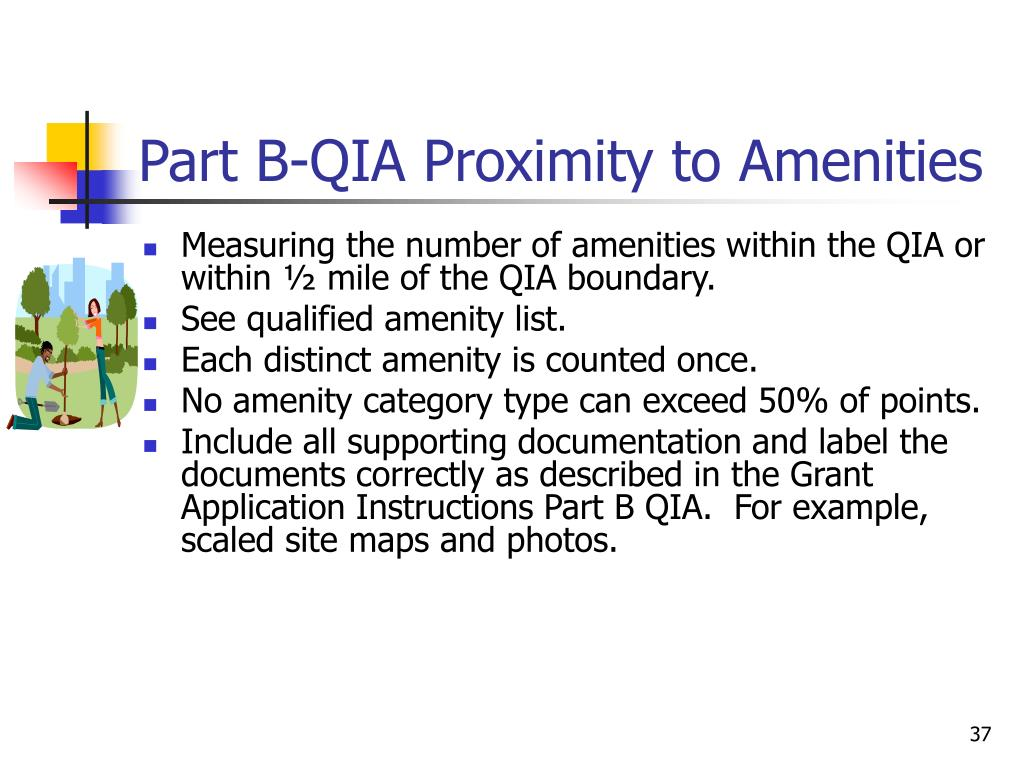 Part B-QIA Proximity to Amenities