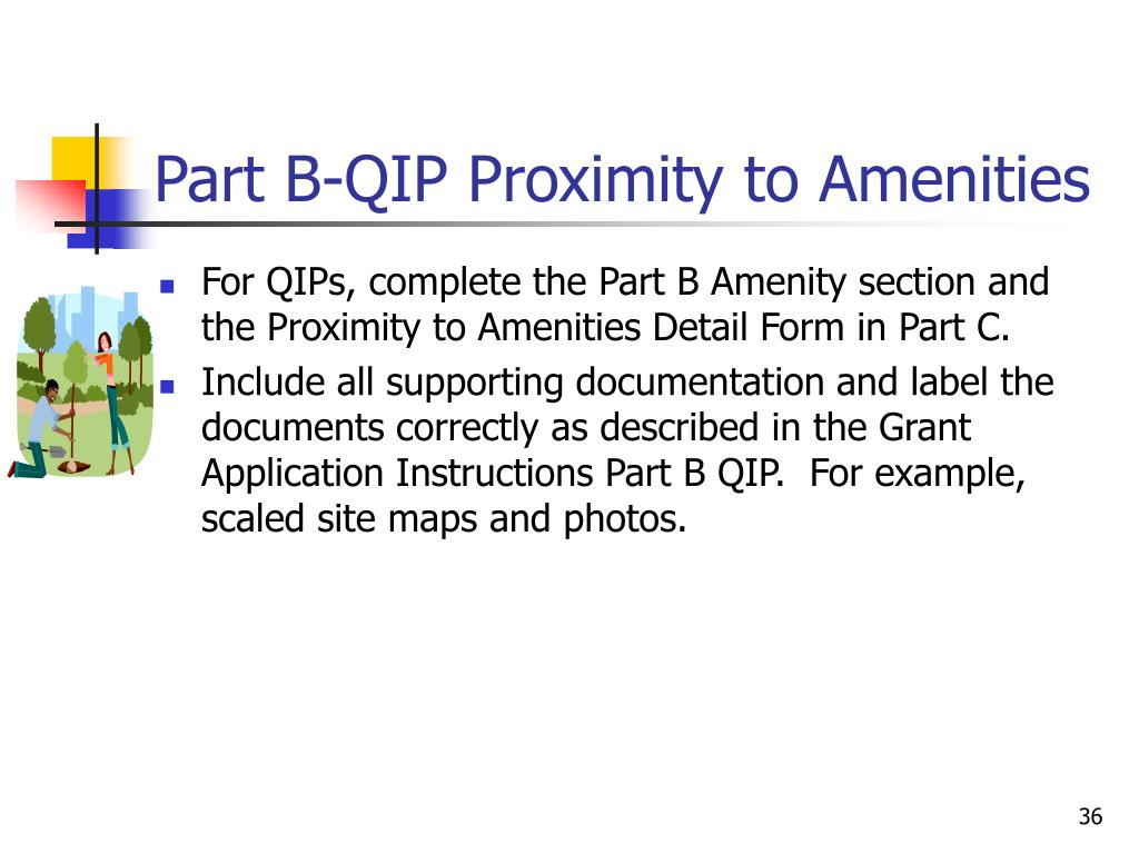 Part B-QIP Proximity to Amenities