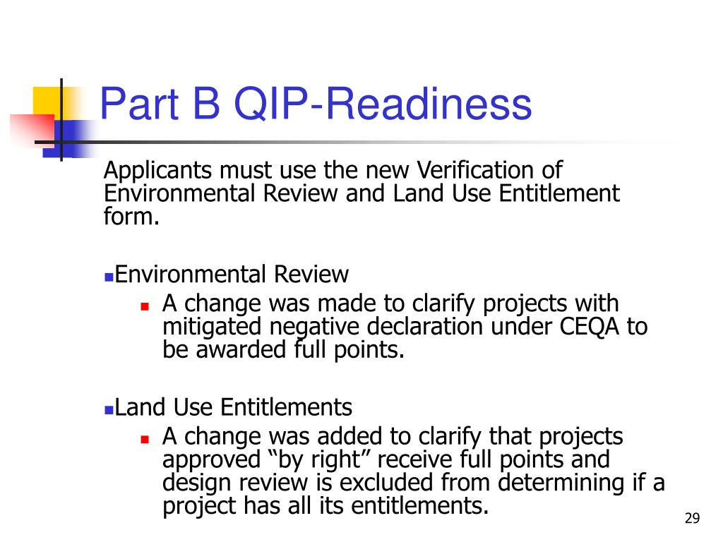 Part B QIP-Readiness