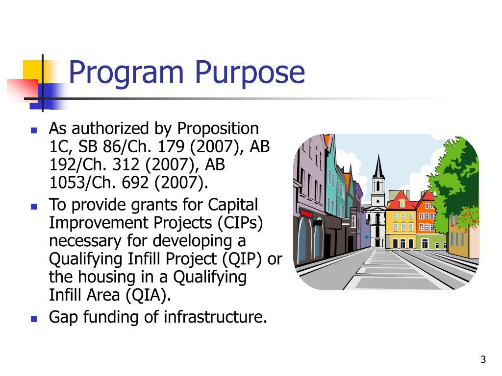 Program Purpose