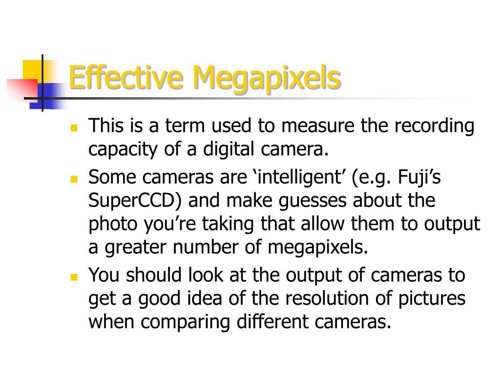 Effective Megapixels