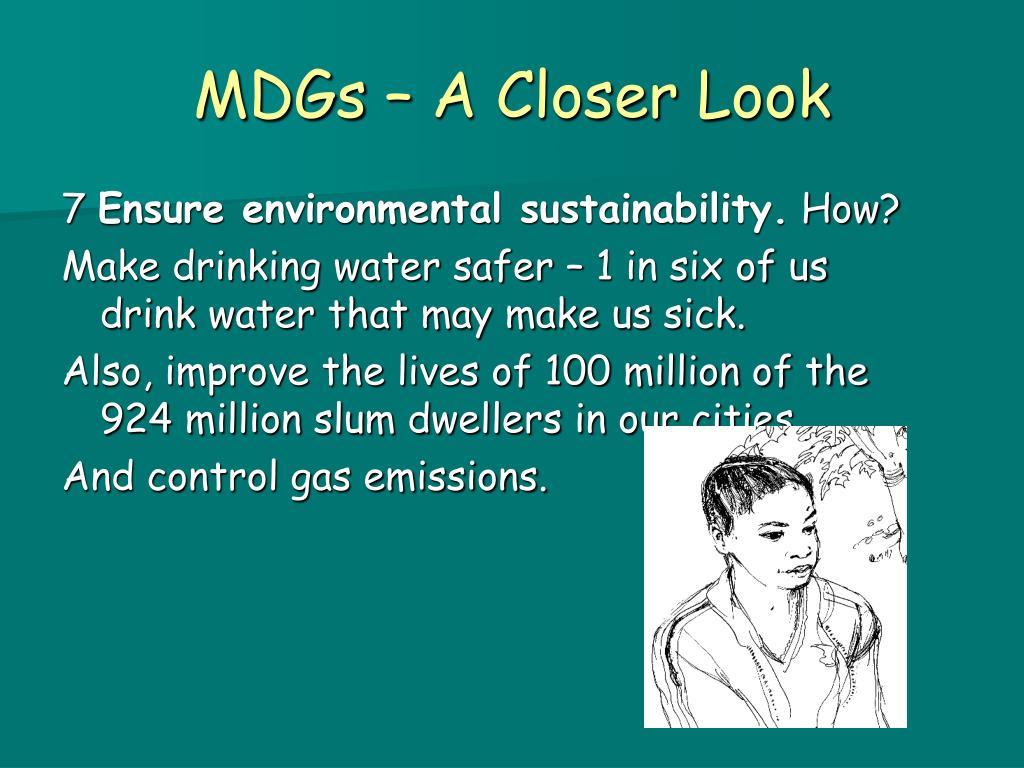 MDGs – A Closer Look