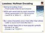lossless huffman encoding
