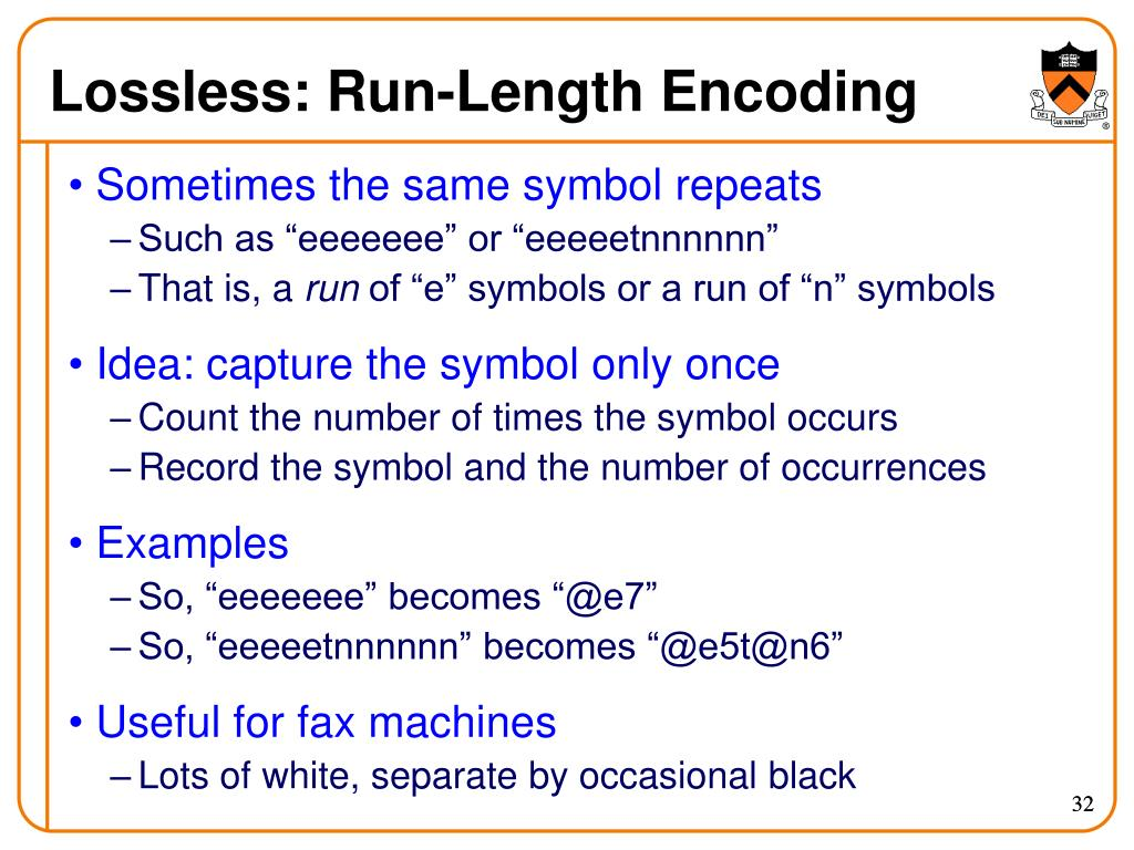Lossless: Run-Length Encoding