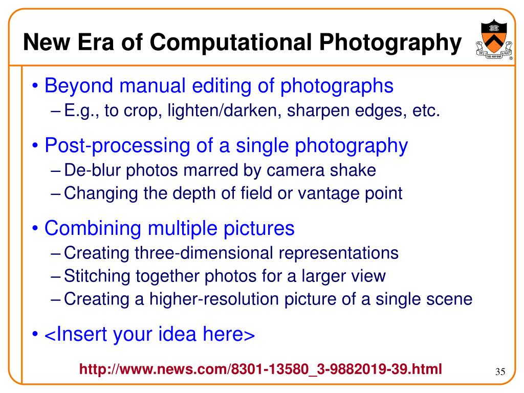 New Era of Computational Photography