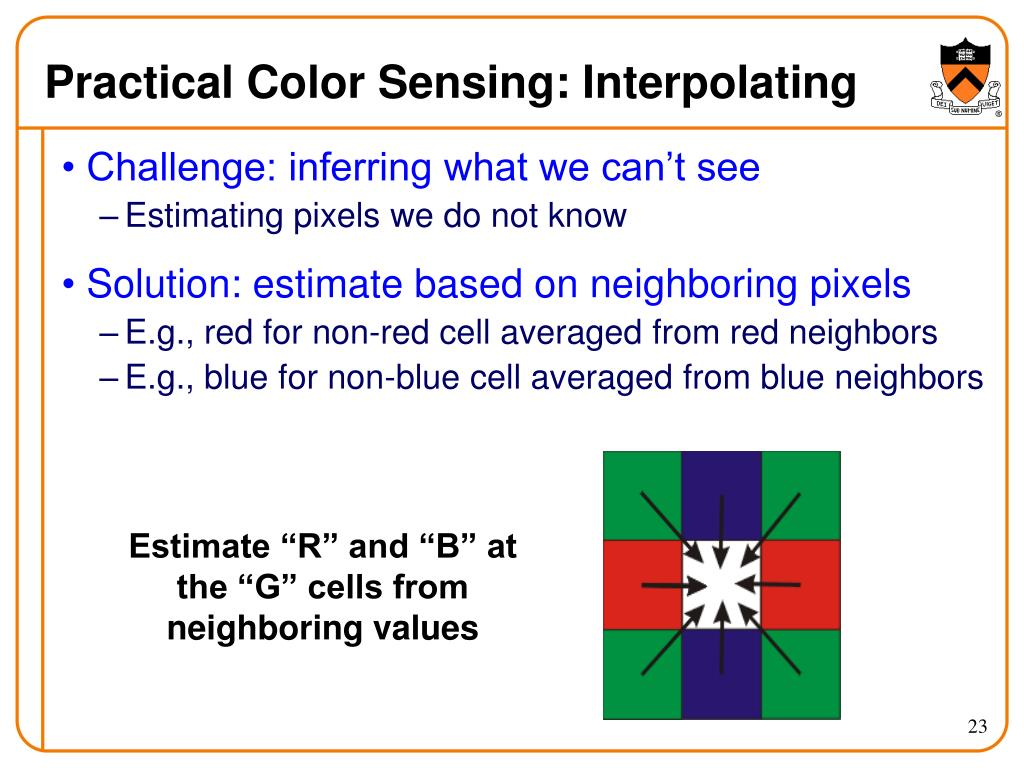 Practical Color Sensing: Interpolating