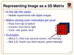 representing image as a 3d matrix
