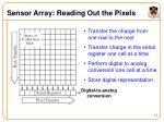 sensor array reading out the pixels