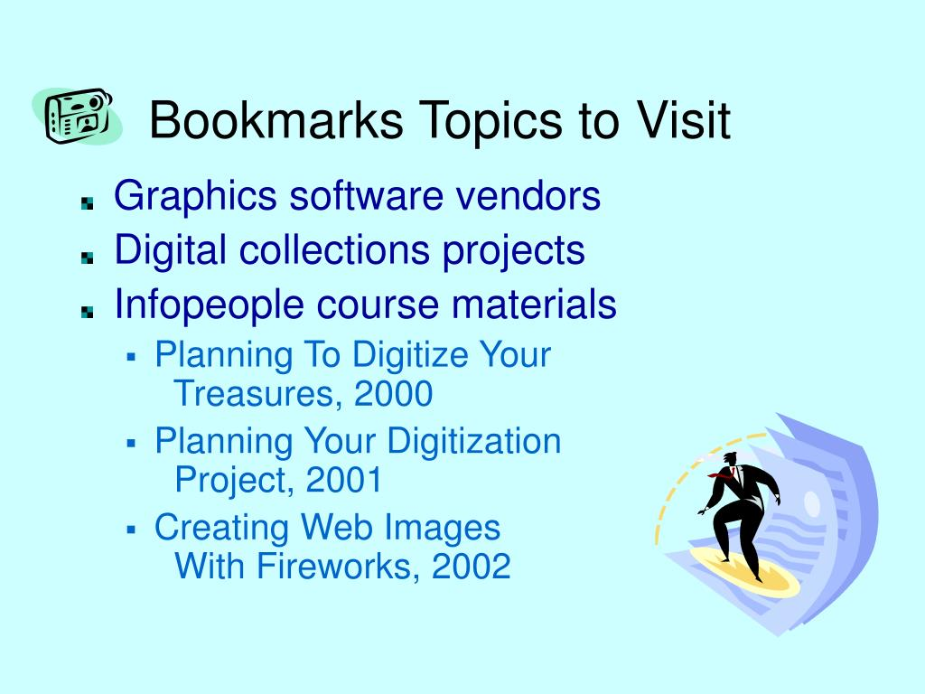Bookmarks Topics to Visit