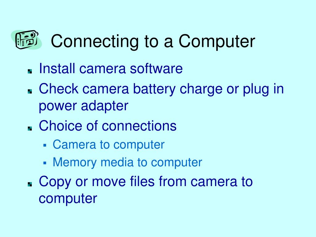 Connecting to a Computer