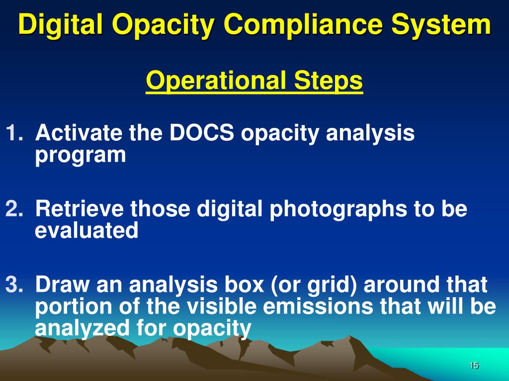 Digital Opacity Compliance System