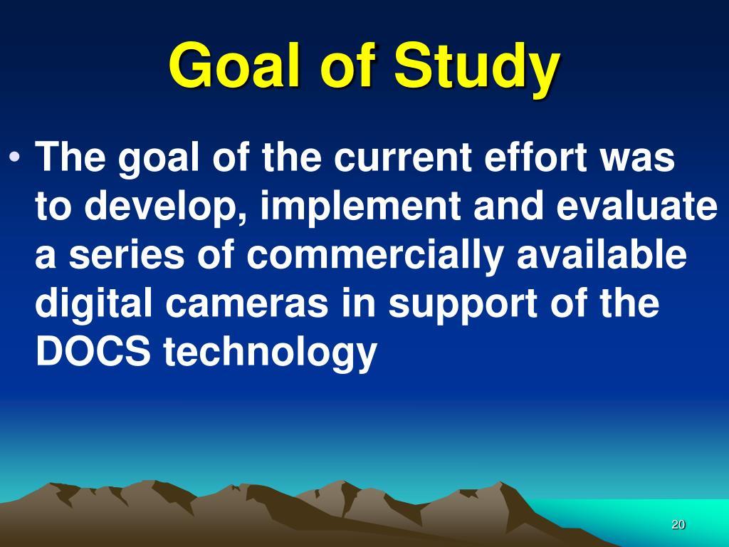 Goal of Study