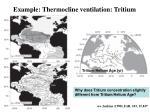 example thermocline ventilation tritium