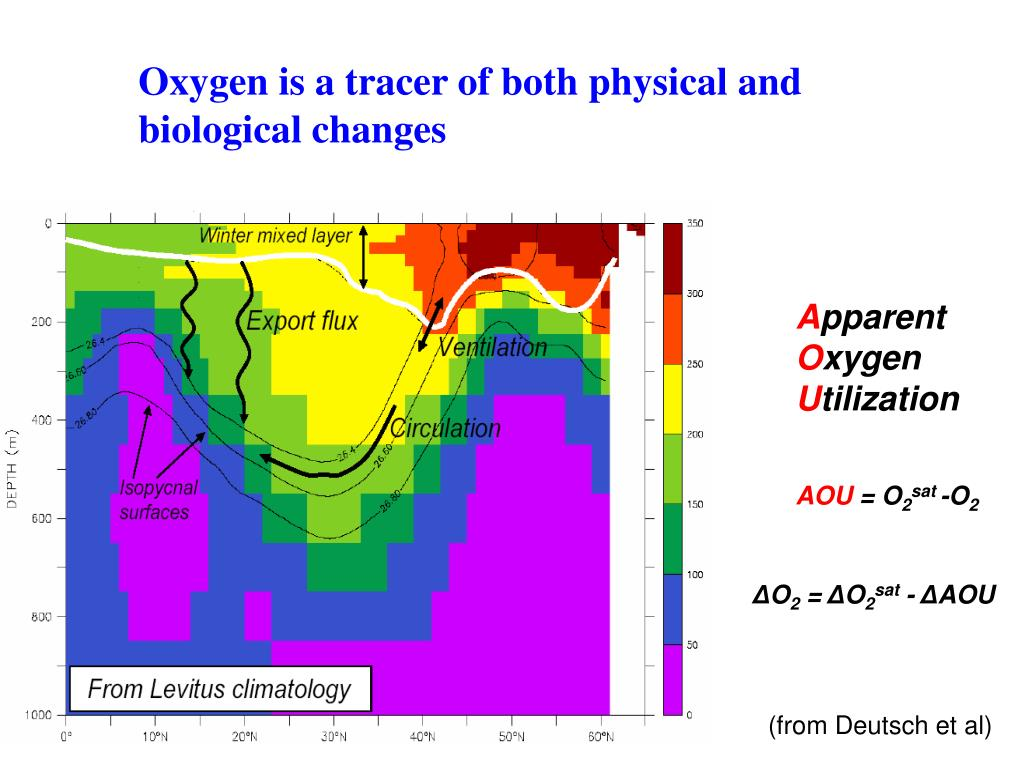 Oxygen is a tracer of both physical and biological changes