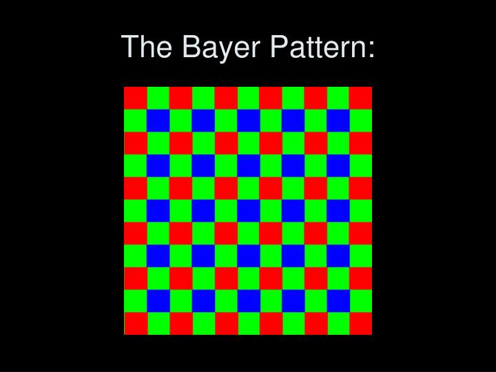 The bayer pattern