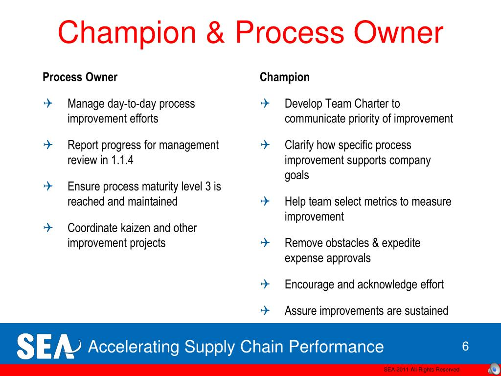 Champion & Process Owner