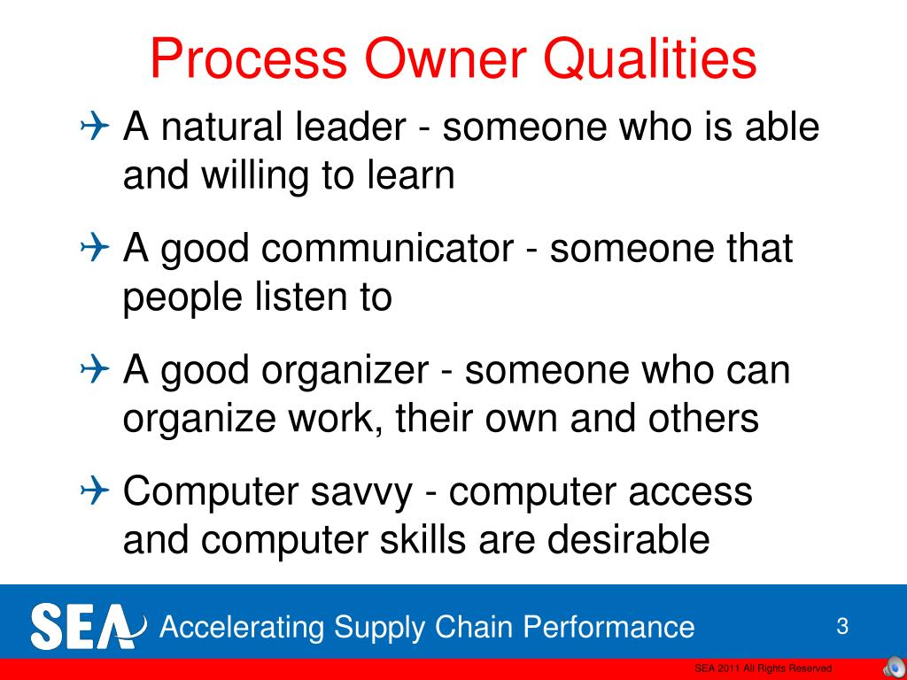 Process Owner Qualities