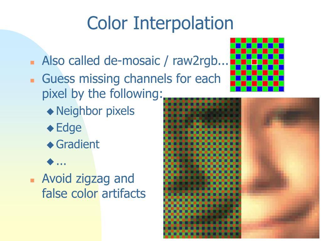 Color Interpolation