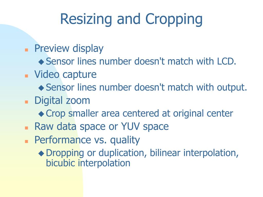 Resizing and Cropping