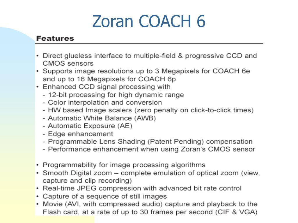 Zoran COACH 6