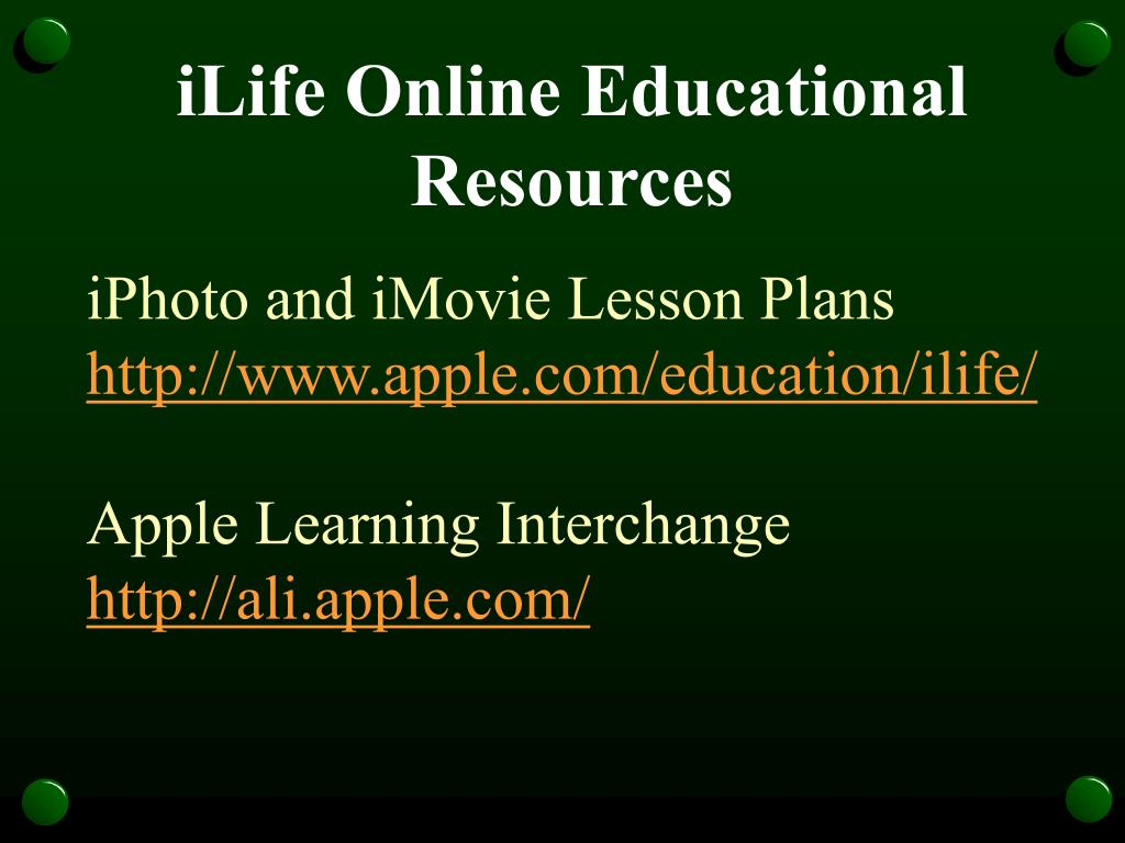 iLife Online Educational Resources