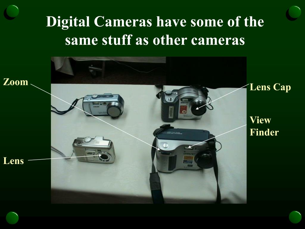 Digital Cameras have some of the same stuff as other cameras