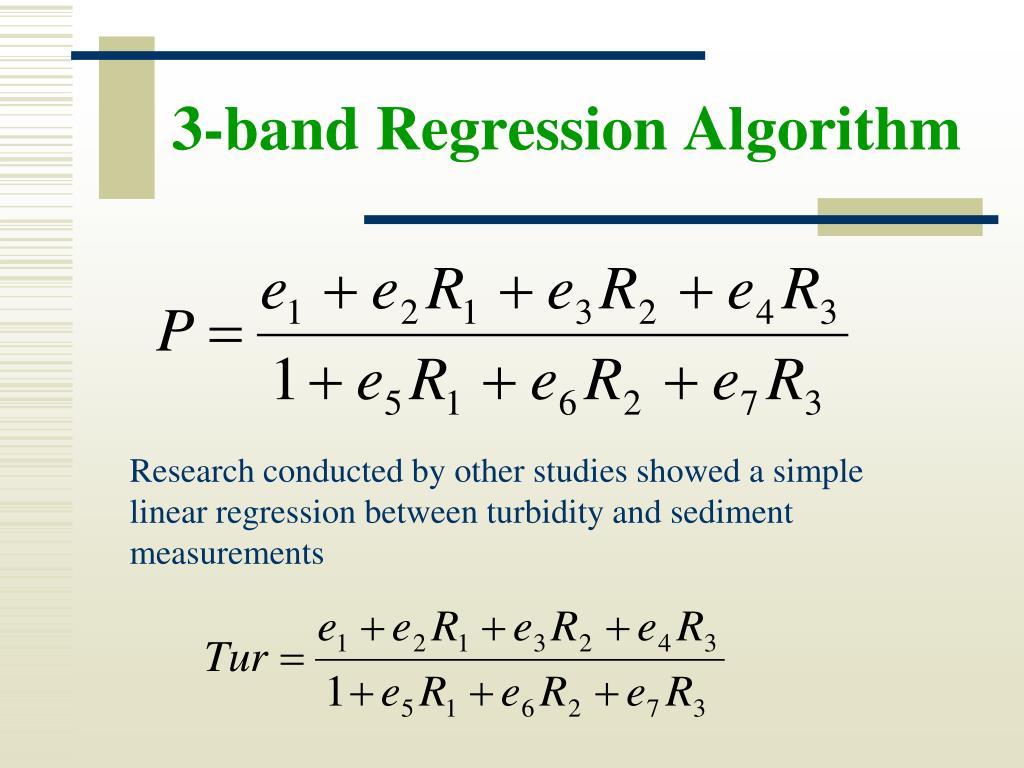 3-band Regression Algorithm