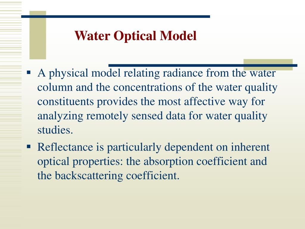 Water Optical Model