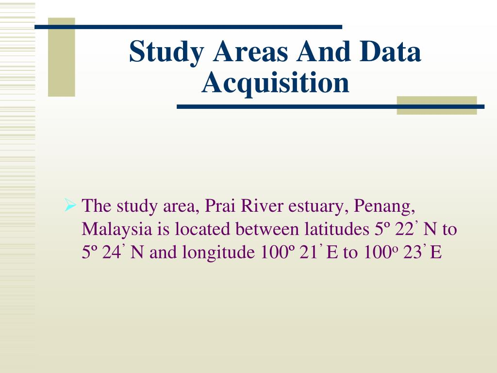Study Areas And Data Acquisition