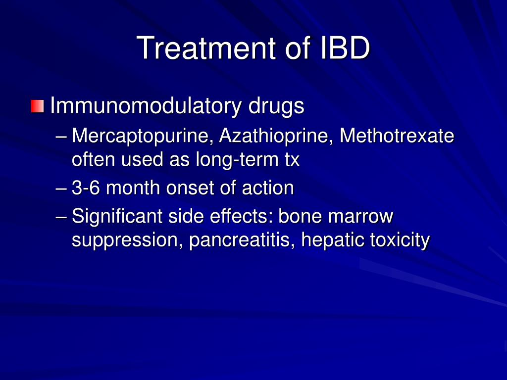 Treatment of IBD
