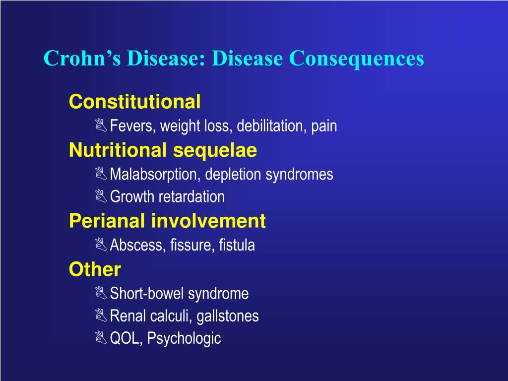 Crohn's Disease: Disease Consequences