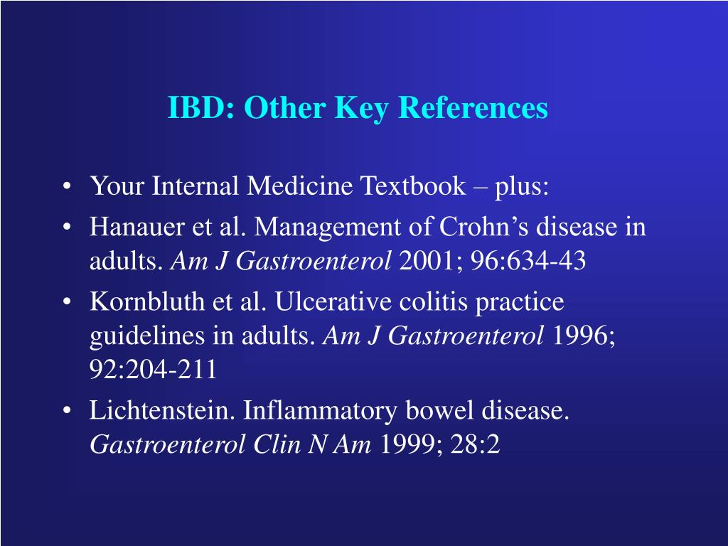 IBD: Other Key References