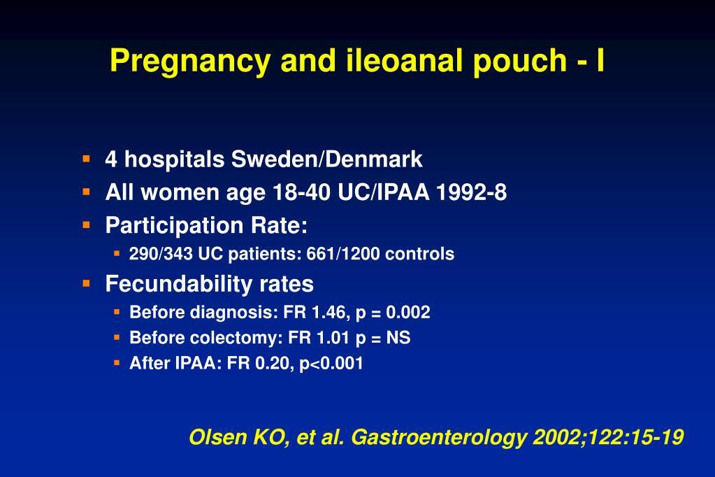 Pregnancy and ileoanal pouch - I