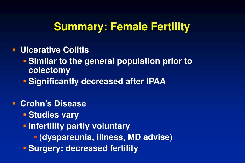 Summary: Female Fertility
